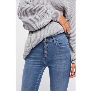 🌸Free People Reagan ButtonFront High Waisted Jean